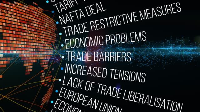vídeos de stock e filmes b-roll de global trades crisis terms - declínio