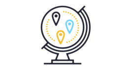 Global Travel Destinations Line Icon Animation