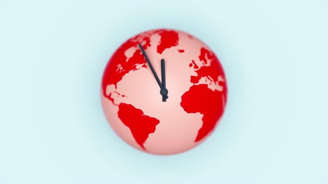 vídeos de stock e filmes b-roll de global warming clock - ecossistema