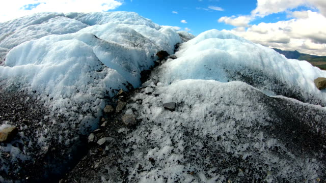 pov global warming moraine debris dirt alaska usa - rubble stock videos & royalty-free footage