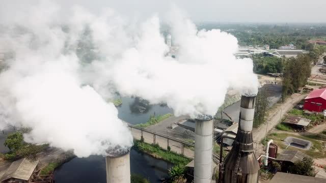 vídeos de stock, filmes e b-roll de poluição do aquecimento global clima de mudança - poluição do ar