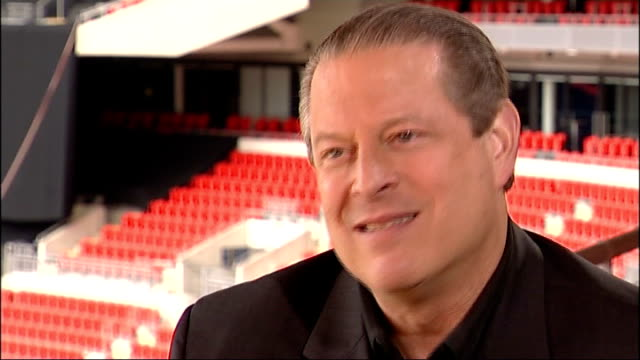 Global warming survey / Al Gore visit Al Gore interview continued SOT discussed forthcoming Live Earth concerts