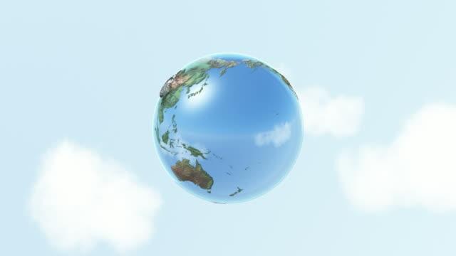 Globe, cloud computing . Loop