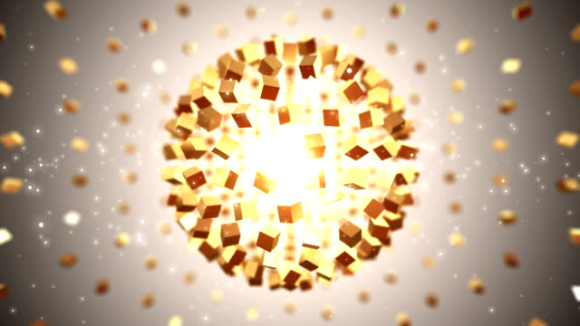 globe gold background. loopable - cube stock videos and b-roll footage