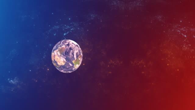 vidéos et rushes de planète dans l'espace coloré - fantaisie