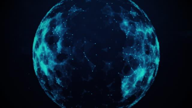 globe, plexus dots, news bulletin - plexus stock videos & royalty-free footage