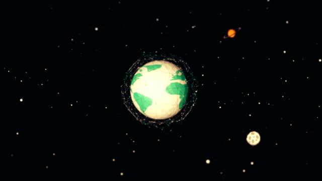 globe spinning loop - solar system stock videos & royalty-free footage