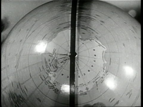 globe spins showing the continent of antarctica. - 1930 stock videos & royalty-free footage