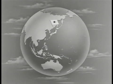 map globe w/ 'philippines' superimposed over globe w/ japanese flag marking japan philippine islands highlighted - philippines stock videos & royalty-free footage