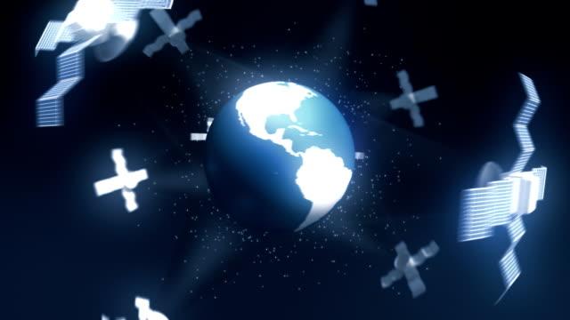 globe with satelites - 2010 stock videos & royalty-free footage
