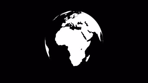 globe - world map (loop 4k + alpha channel) - spinning stock videos & royalty-free footage