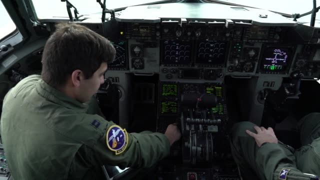 globemaster iii aircrew from the 14th airlift squadron conduct a local training sortie out of joint base charleston south carolina march 14th 2019 - military training stock videos and b-roll footage