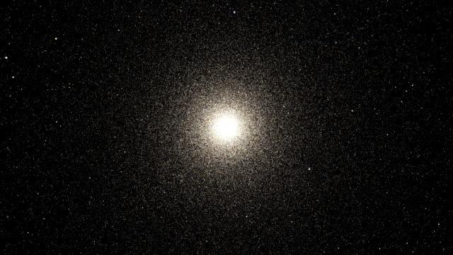 'Globular star cluster, animation'