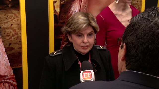 """gloria allred at """"belle"""" new york premiere arrivals at the paris theater on april 28 2014 in new york city - paris theater manhattan stock videos and b-roll footage"""