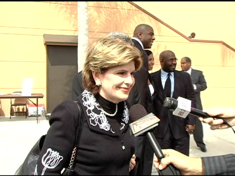 gloria allred at the funeral of johnnie l cochran, jr arrivals at west angeles cathedral in los angeles, california on april 6, 2005. - johnnie cochran stock videos & royalty-free footage