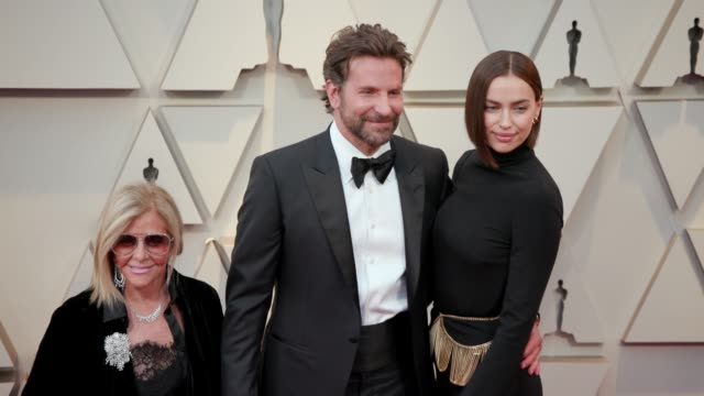 gloria campano, bradley cooper and irina shayk at the 91st academy awards - arrivals at dolby theatre on february 24, 2019 in hollywood, california. - academy awards stock videos & royalty-free footage