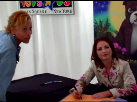 Gloria Estefan and fans at the Book Signing of Gloria Estefan's New Children's Book at Toys R Us Times Square in New York New York on October 12 2005