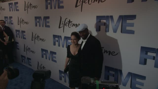 Gloria Estefan and Wyclef Jean at the 'Premiere Of Lifetime's Five From Jennifer Aniston Demi Moore Alicia Keys' at New York NY