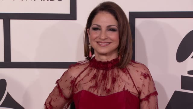 Gloria Estefan at 56th Annual Grammy Awards Arrivals at Staples Center on in Los Angeles California