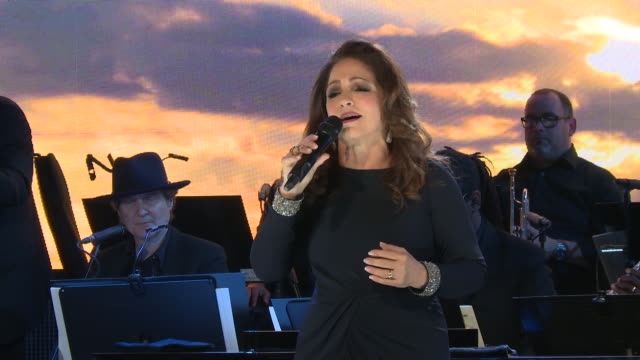 PERFORMANCE Gloria Estefan at the Statue Of Liberty Museum Opening Celebration at Ellis Island on May 15 2019 in New York City