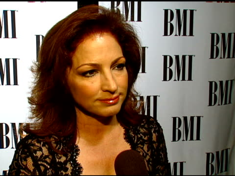 Gloria Estefan on her career her relationship with BMI and what her audience likes about her music at the BMI's 16th Annual Latin Music Awards at...