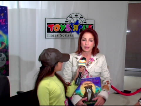 Gloria Estefan Spanish Interview at the Book Signing of Gloria Estefan's New Children's Book at Toys R Us Times Square in New York New York on...