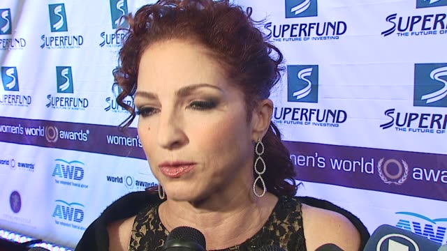 Gloria Estefan/Recording Artist/ Talks about tonights awards and why they are so important Discusses giving the award to Susan Sarandon and being a...