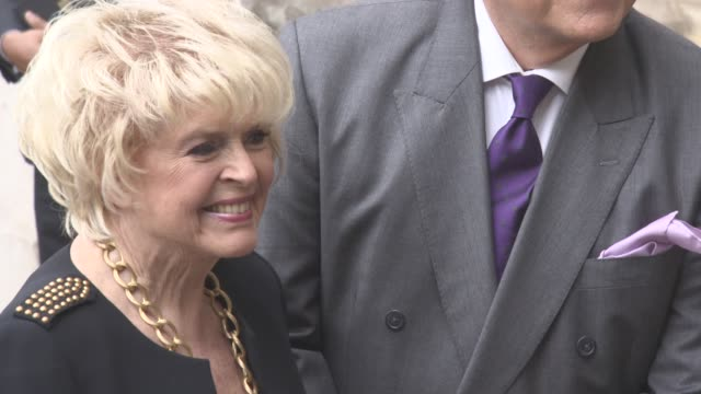 gloria hunniford at a service of thanksgiving for the life and work of sir terry wogan at westminster abbey on september 27, 2016 in london, england. - terry wogan stock videos & royalty-free footage