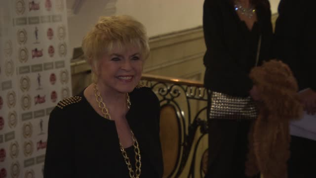 gloria hunniford at national film awards at porchester hall on march 31, 2015 in london, england. - グロリア ハニフォード点の映像素材/bロール