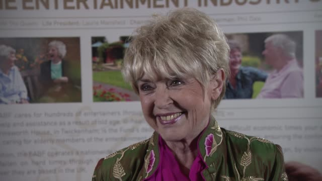 gloria hunniford on the show, the queen spending time with ashleigh and pudsey, what made the evening special at royal variety performance after... - gloria hunniford stock videos & royalty-free footage