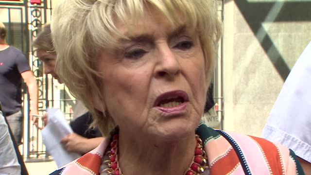 gloria hunniford saying sir cliff richard had the support of the public in his privacy case against the bbc - gloria hunniford stock-videos und b-roll-filmmaterial