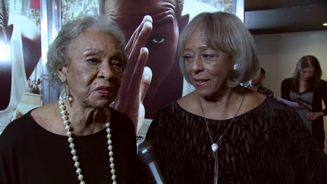 """INTERVIEW Gloria Owens Hemphill Marlene Owens Rankin On helping Stephan James prep for his role in """"Race"""" On how they had a lot of conversations and..."""