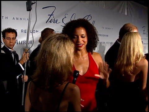 Gloria Reuben at the 1997 Fire and Ice Ball on December 3 1997