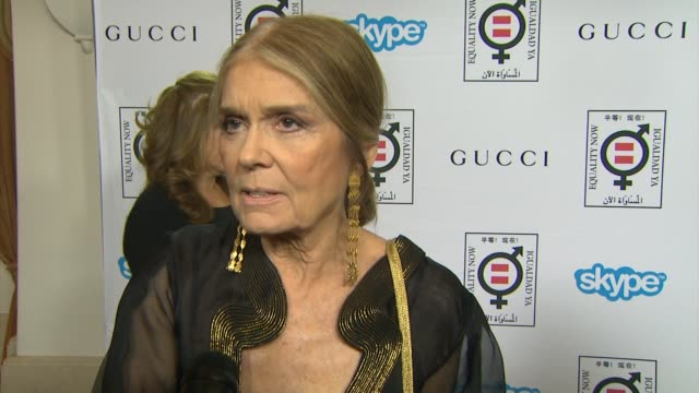 interview gloria steinem on what this honor means to her how she got involved with equality now and advice on how to make equality a reality at... - equality now stock videos and b-roll footage