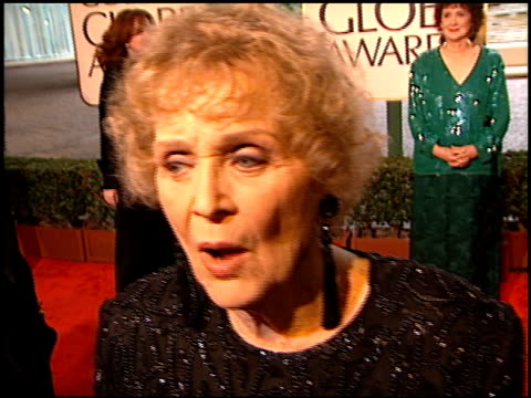 gloria stuart at the 1998 golden globe awards at the beverly hilton in beverly hills, california on january 18, 1998. - golden globe awards stock videos & royalty-free footage