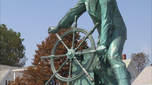 gloucester fisherman's memorial in massachusetts - gloucester massachusetts stock videos & royalty-free footage