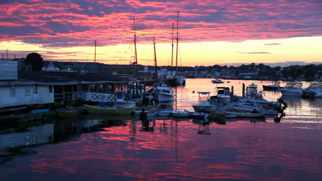 gloucester harbor - gloucester massachusetts stock videos & royalty-free footage