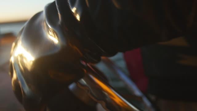 gloved hands on wheel 2 - wiese stock videos & royalty-free footage