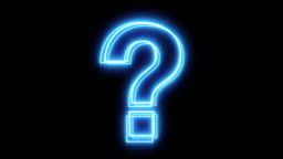 Glowing Blue Question Mark