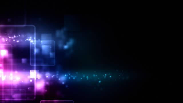 Glowing Boxes Loop - Neon Pink (HD 1080)