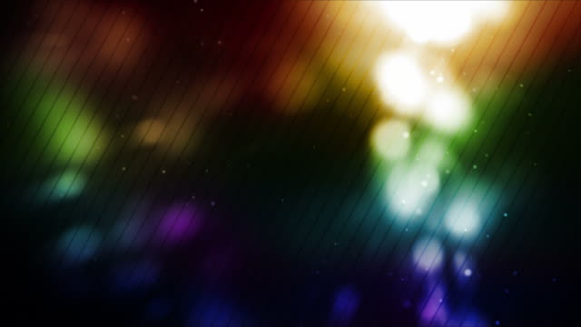 Glowing Dots Background Loop - Rainbow Glow (Full HD)