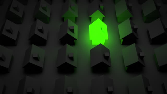 glowing house - green (full hd) - stereotypically upper class stock videos & royalty-free footage