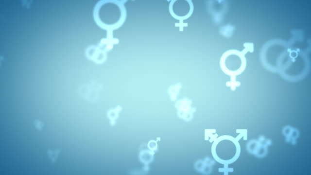 Glowing LGBT Symbols icons looping background