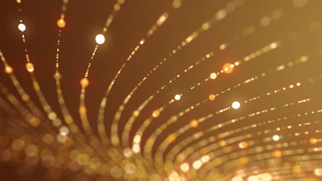 vídeos de stock, filmes e b-roll de luzes brilhantes e fundo de fundo de ouro elegance loopable 4k - dance music