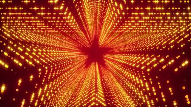 stockvideo's en b-roll-footage met gloeiende lichten stargate loop achtergrond 4k - star shape