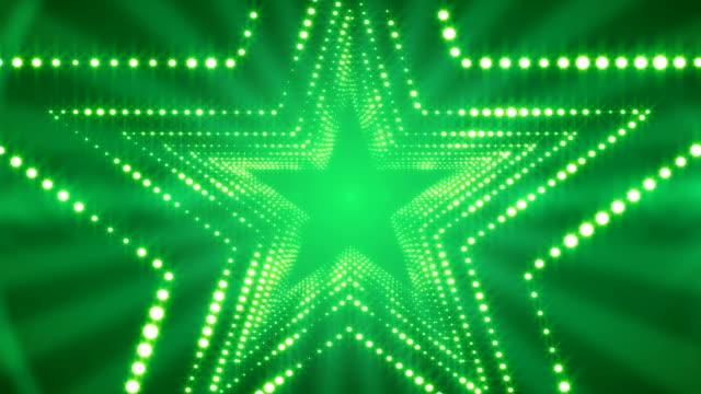 Glowing Lights Stargate Loop Background 4K