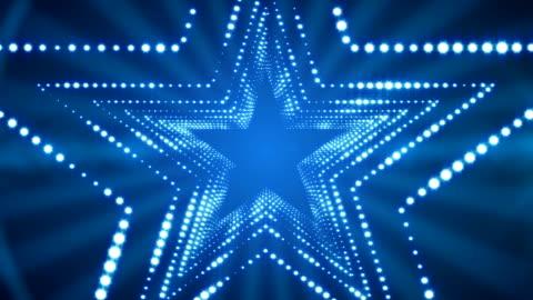 vídeos y material grabado en eventos de stock de brillantes luces stargate lazo fondo 4k - luz led