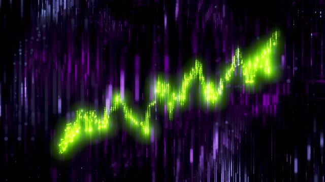 Glowing line graph