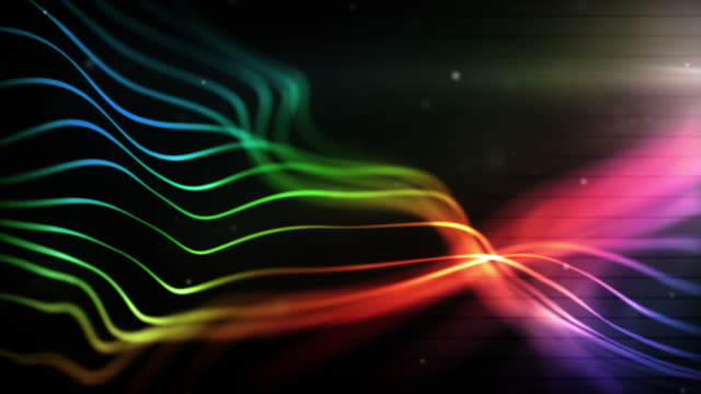 glowing lines loop - midnight rainbow (full hd) - striped stock videos & royalty-free footage