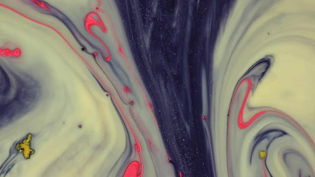 glühende flüssigfarbe wellen hintergrund - mischen stock-videos und b-roll-filmmaterial